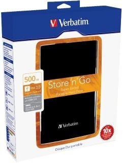 Verbatim Dysk Store 'n' Go USB 3.0 Portable 2,5'' 500GB, zewn., czarny