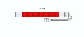 Fideltronik P-KP-7GBU (7 gniazd, rack 19'', 1U, wtyczka IEC320)