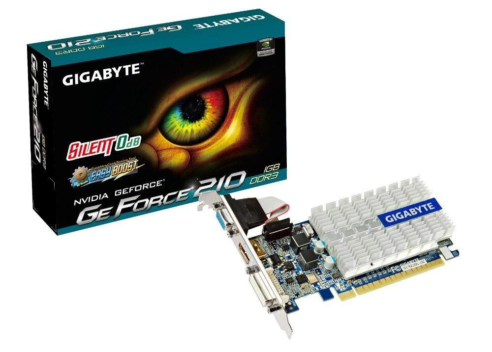 Gigabyte GeForce GT 210, 1GB DDR3 (64 Bit), HDMI, LP, DVI, D-SUB, BOX