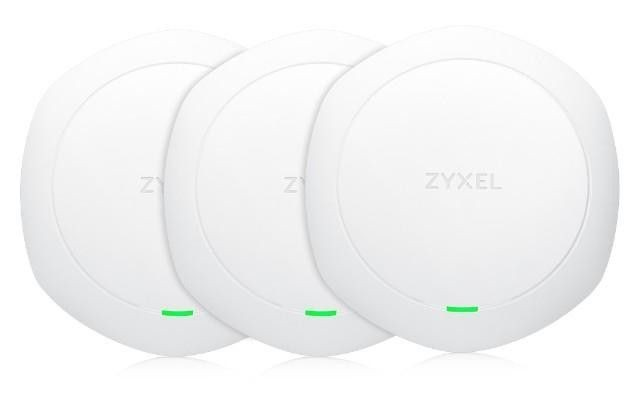 ZyXEL Zyxel NWA1123-ACHD 3-pack Wireless AC1600 Wave2 Dual-Radio Standalone Access Point, PoE, 2x gigabit RJ45, bez zdrojů