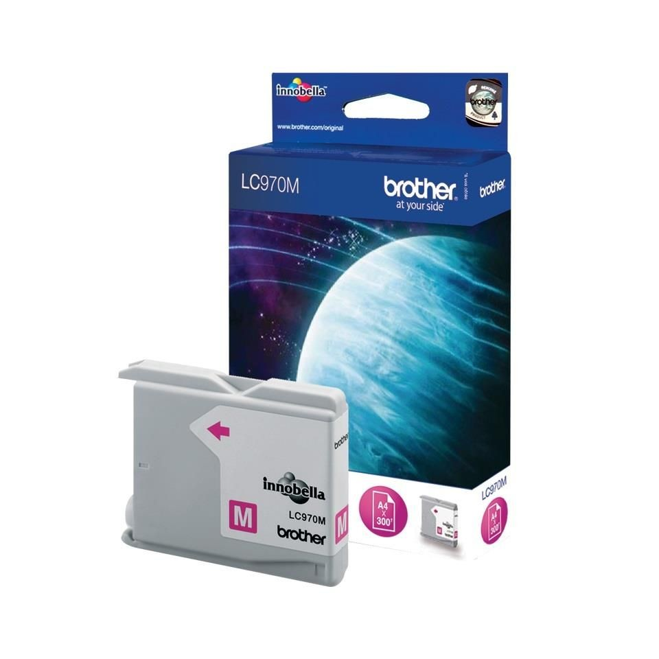 Brother Tusz LC970MBP magenta Blister Pack | 350str | DCP135C / DCP150C / MFCMFC