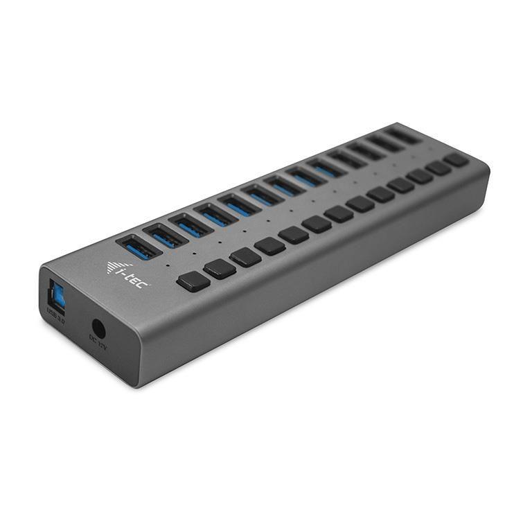 iTec Hub USB3.0 z ładowaniem, 13 portów, zasilacz 60W