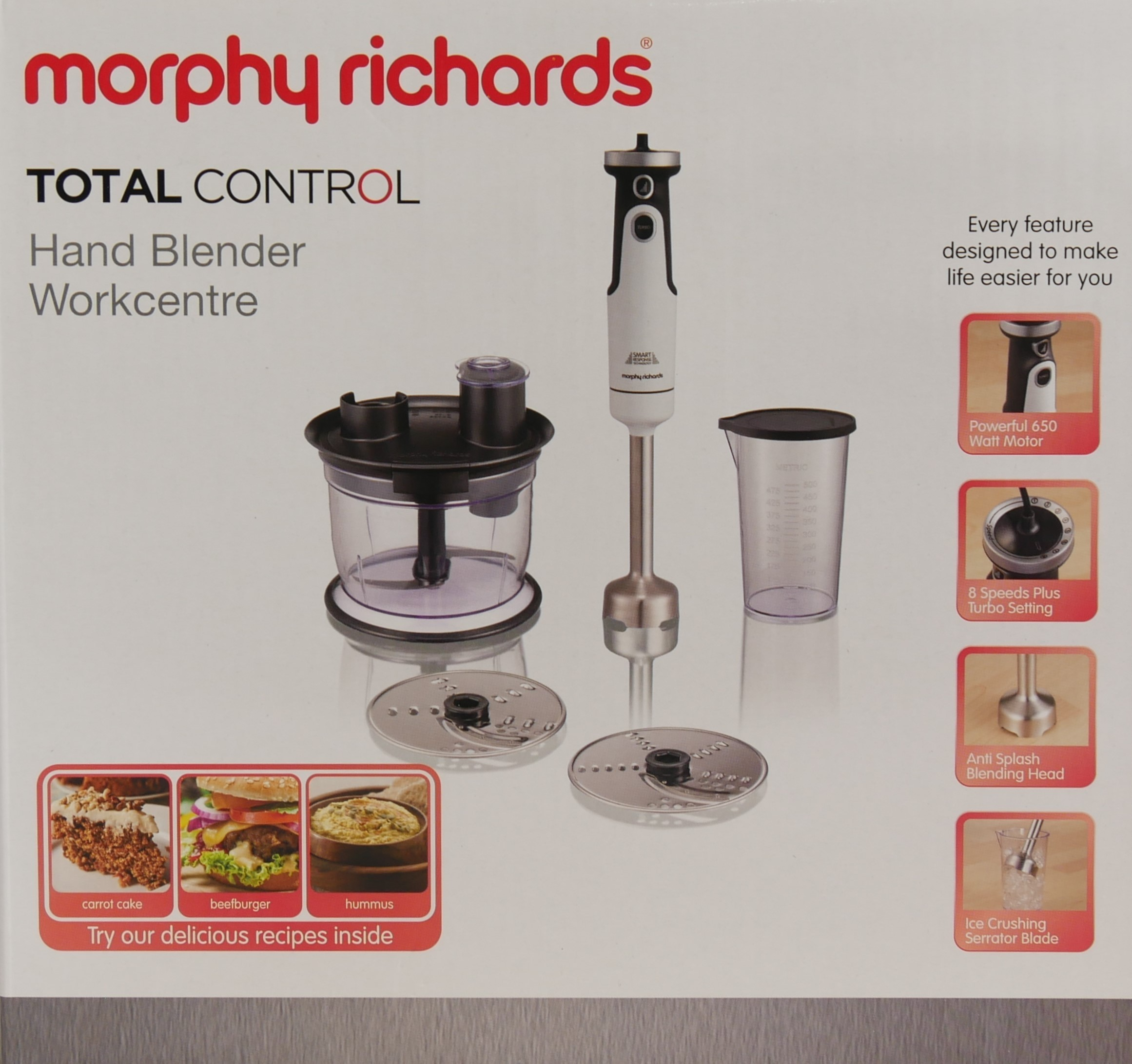 Morphy Richards Blender Total Control biały 402054