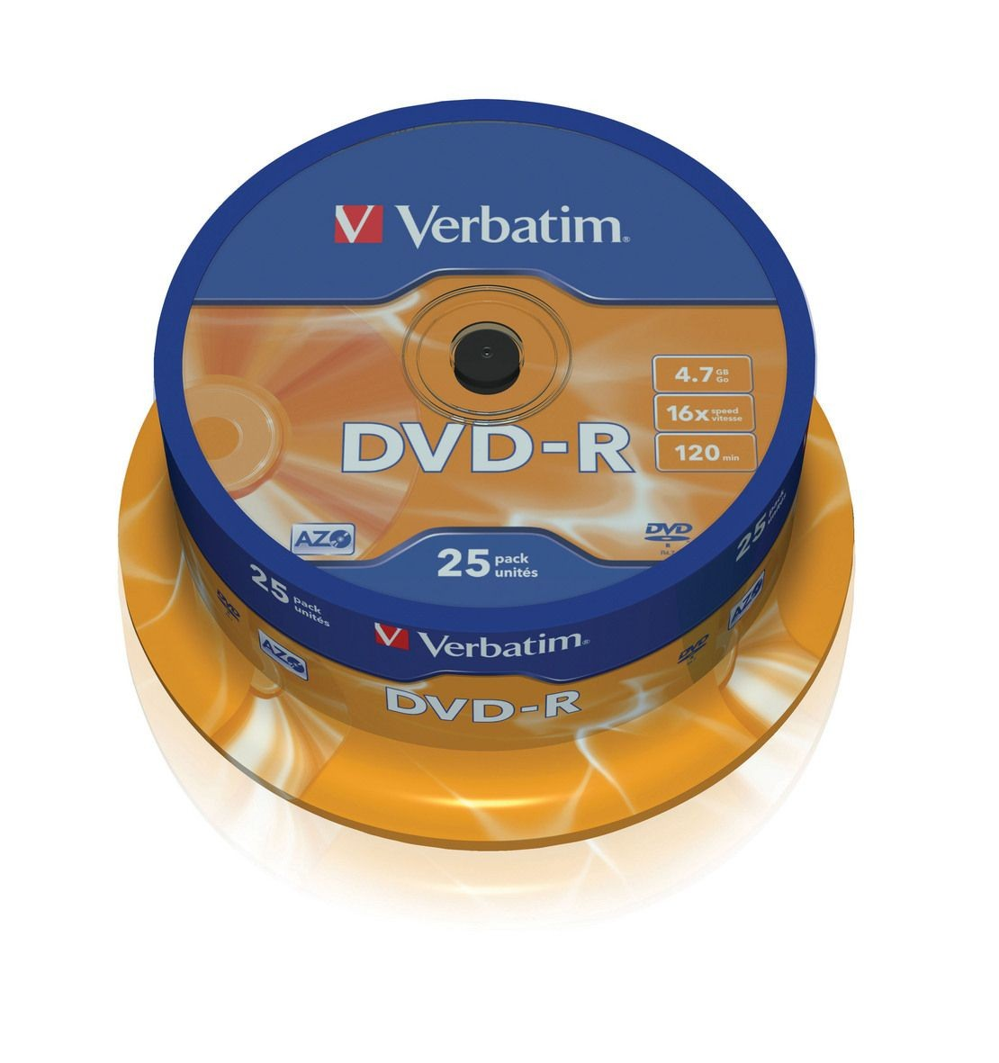 Verbatim DVD-R [ cake box 25 | 4.7GB | 16x | matte silver ]