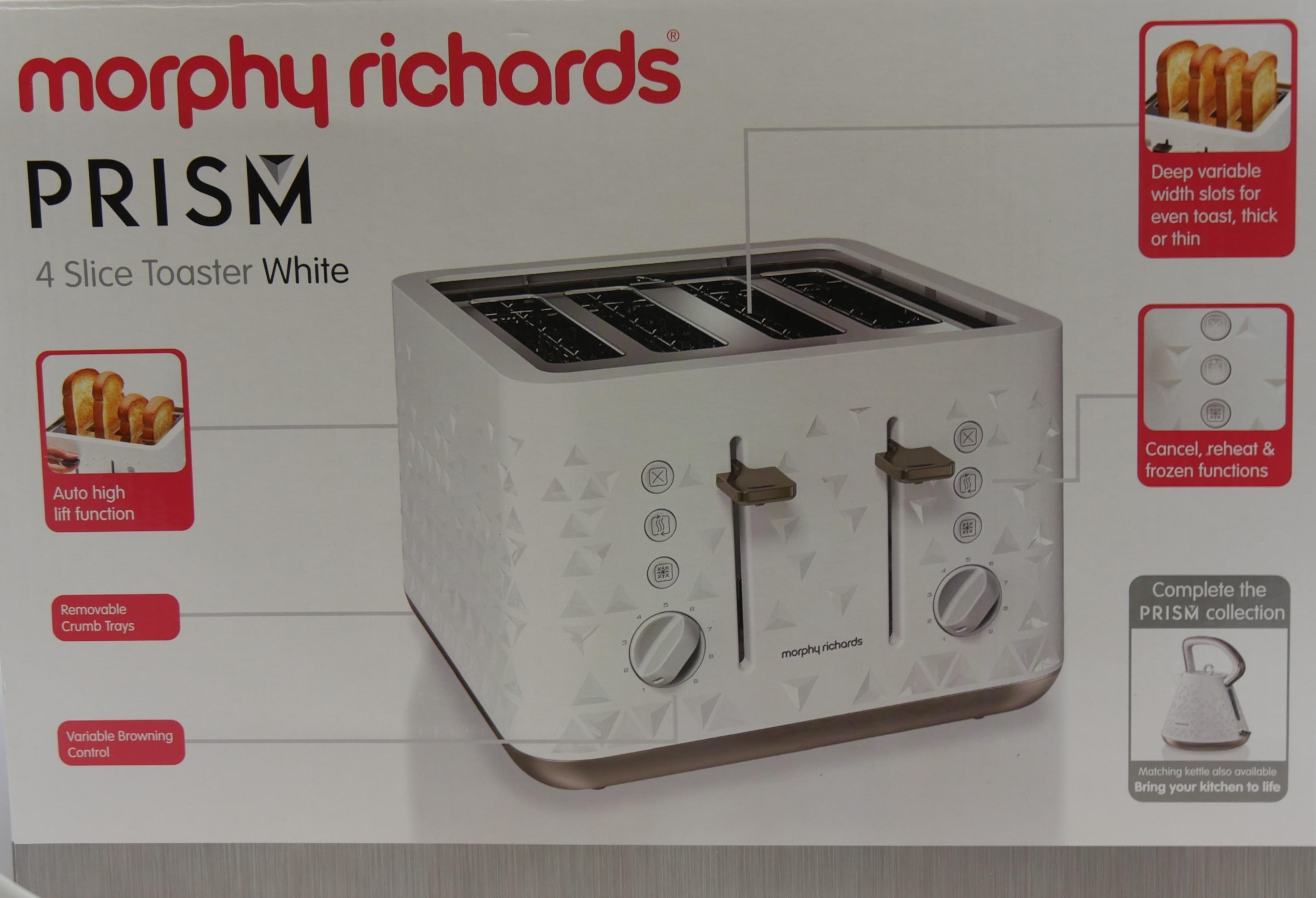 Morphy Richards Toster Prism biały 248102