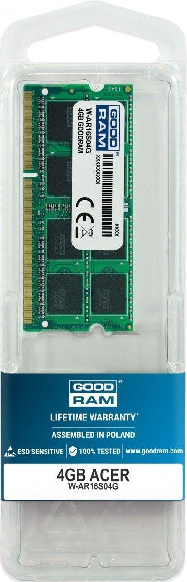 GoodRam Pamięć dedykowana notebook Acer 4GB/1600(1333/1066)