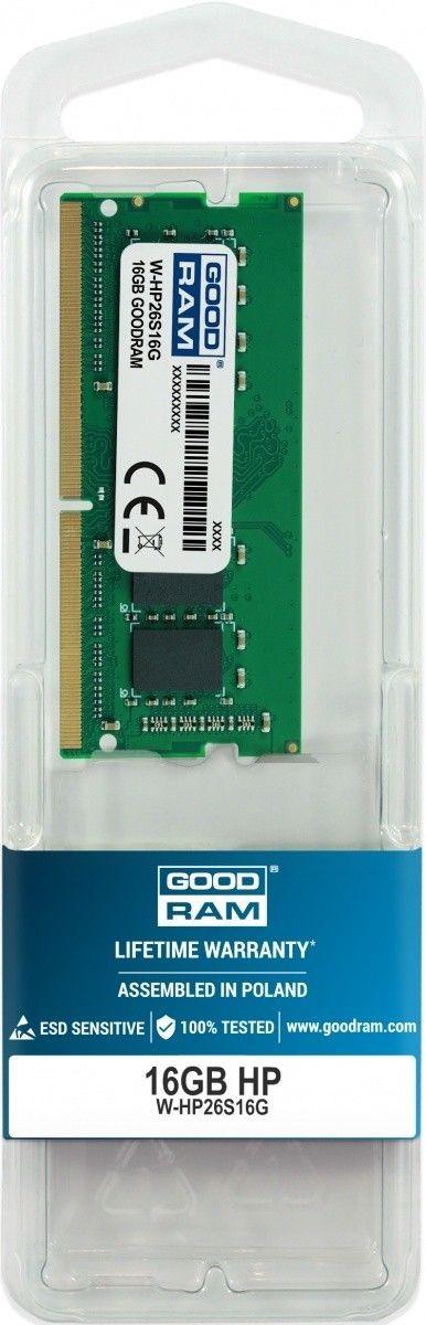 GoodRam Pamięć dedykowana notebook HP 16GB/2666 (2400/2133)
