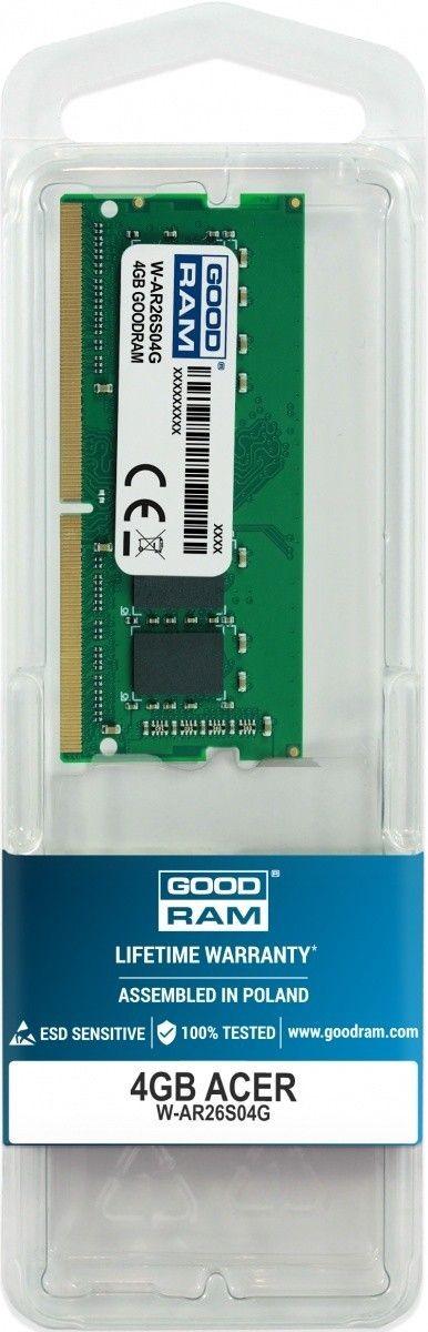 GoodRam Pamięć dedykowana notebook Acer 4GB/2666 (2400/2133)