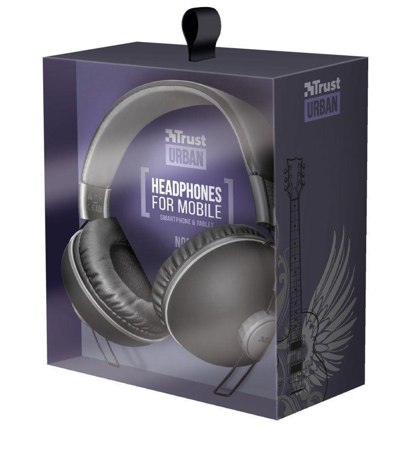 Trust sluchátka Noma headphones - matte black
