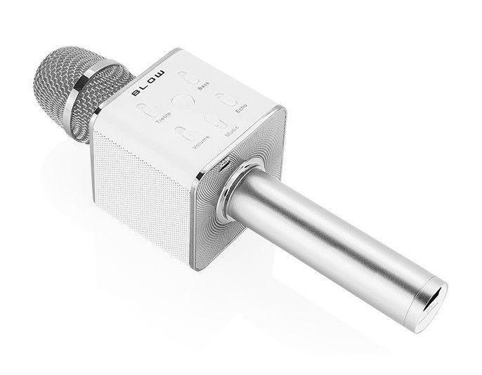 BLOW Mikrofon PRM 401 karaoke + głośnik srebrny