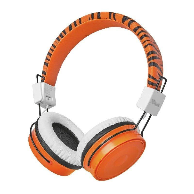 Trust Bezdrátová sluchátka Comi Bluetooth Wireless Kids Headphones - orange