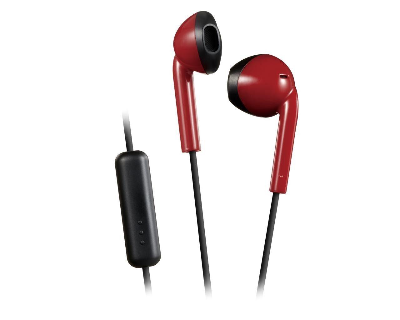 JVC Słuchawki HA-F19M czerwone