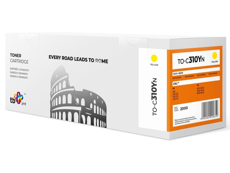 TB Print Toner do OKI C310 TO-C310YN żółty 100% nowy