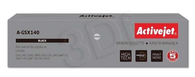 ActiveJet Taśma barwiąca A-GSX140 (zamiennik Citizen GSX-140 / 3000017 / 3000019; Supreme; czarny)
