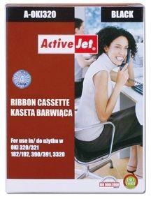 ActiveJet Taśma barwiąca A-OKI320 (zamiennik OKI 9002303; Supreme; czarny)