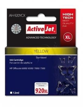 ActiveJet Tusz ActiveJet AH-920YCX | Yellow | 12 ml | HP 920XL CD974AE