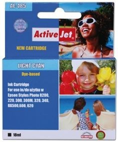ActiveJet Tusz ActiveJet AE-485N | Light cyan | 18 ml | Chip | Epson T0485