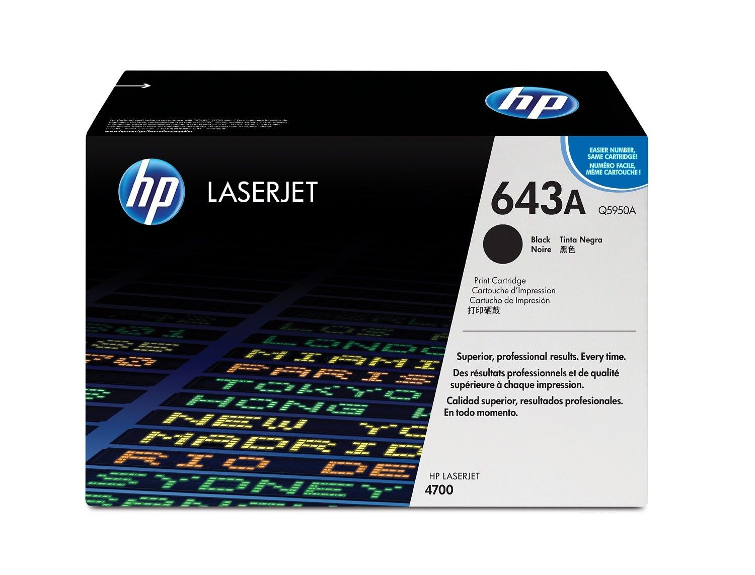 HP 643A Colour LaserJet original toner cartridge black standard capacity 11.000 pages 1-pack