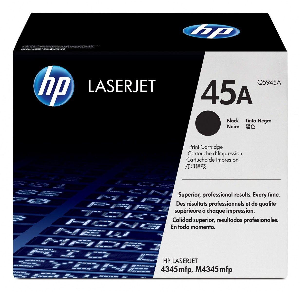 HP 45A LaserJet original toner cartridge black standard capacity 18.000 pages 1-pack