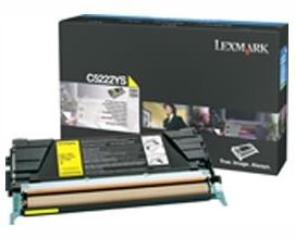 Lexmark C5220YS Toner yellow zwrotny 3000 str. C522n / C524 / C530dn / C532 / C534
