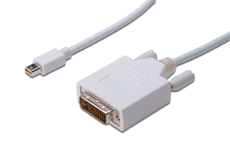 Assmann Kabel adapter Displayport 1.1a Typ miniDP/DVI-D (24+1) M/M biały 1m