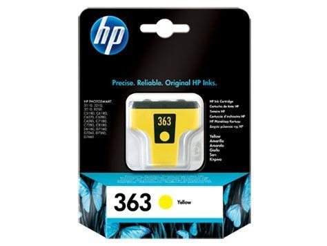HP INK CARTRIDGE YELLOW NO.363/6ML C8773EE