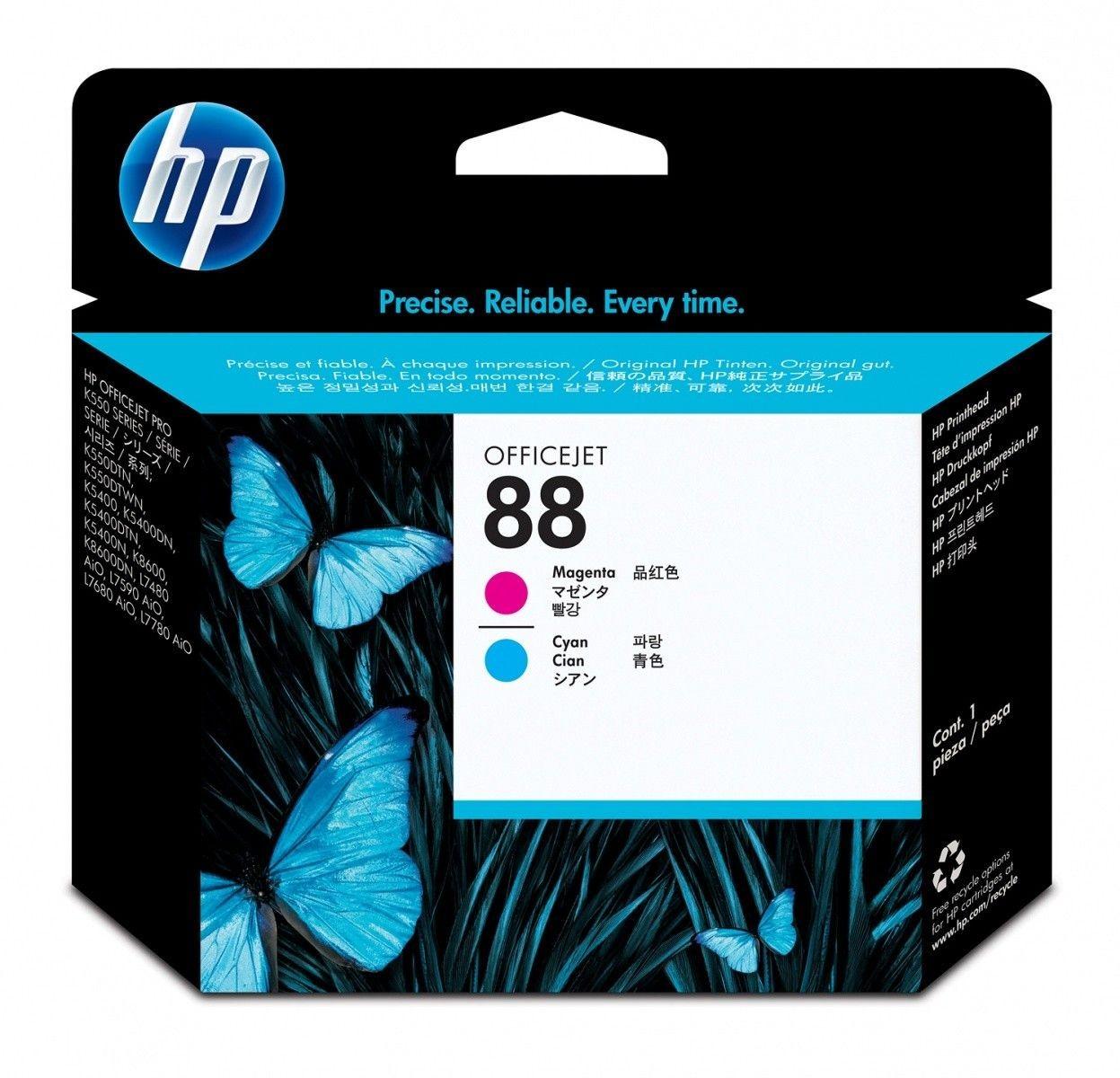 HP PRINTER ACC PRINTHEAD 88//MAGENTA&CYAN C9382A