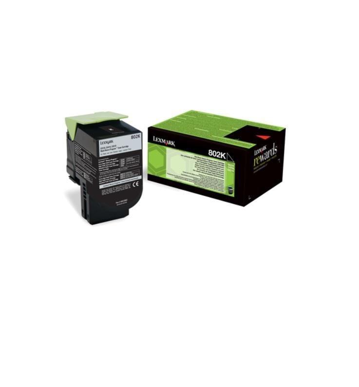 Lexmark Toner 802K black | zwrotny | 1000 str.| CX310dn / CX310n / CX410de