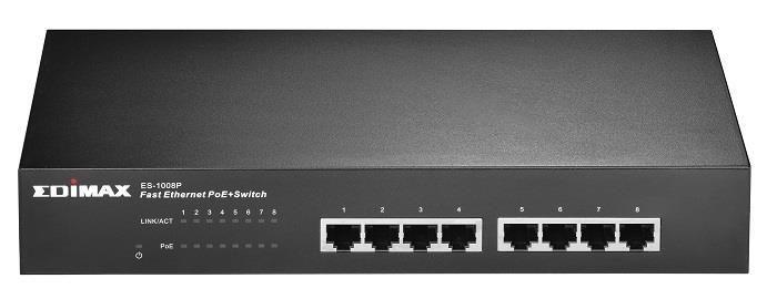 Edimax Switch niezarządzalny Edimax ES-1008P 8x10/100 Mbps PoE 150W