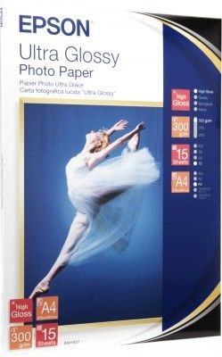 Epson C13S041927 Papier Ultra Glossy Photo 300g A4 15ark