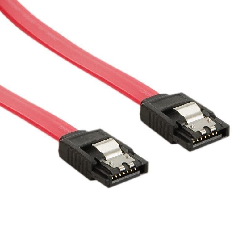 4World Kabel HDD | SATA 3 | 60cm | zatrzask | czerwony