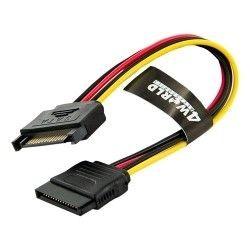4World Kabel przedłużający HDD | 15 pin SATA | 20cm | zasilanie | transfer danyc