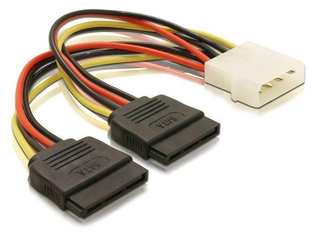 DeLOCK kabel do dysków 2x Serial ATA zasilający 16cm