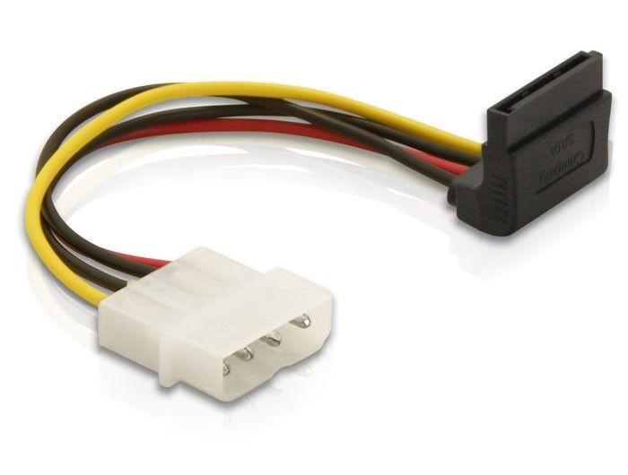 DeLOCK Kabel SATA zasilający Molex(M)->SATA(F) Kąt. 90-€ 0,15m