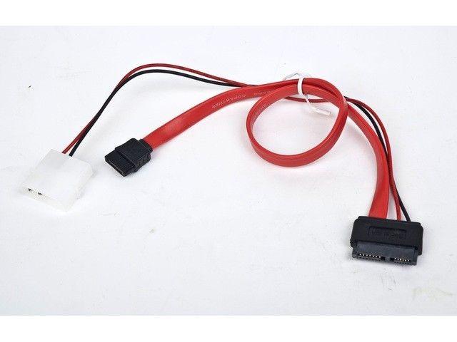 Gembird Kabel SATA DATA SLIMLINE + zasilający 35cm
