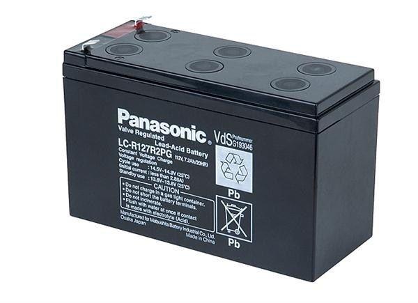CyberPower Baterie - Panasonic LC-R127R2PG1 (12V/7,2Ah - Faston 250), životnost 6-9let
