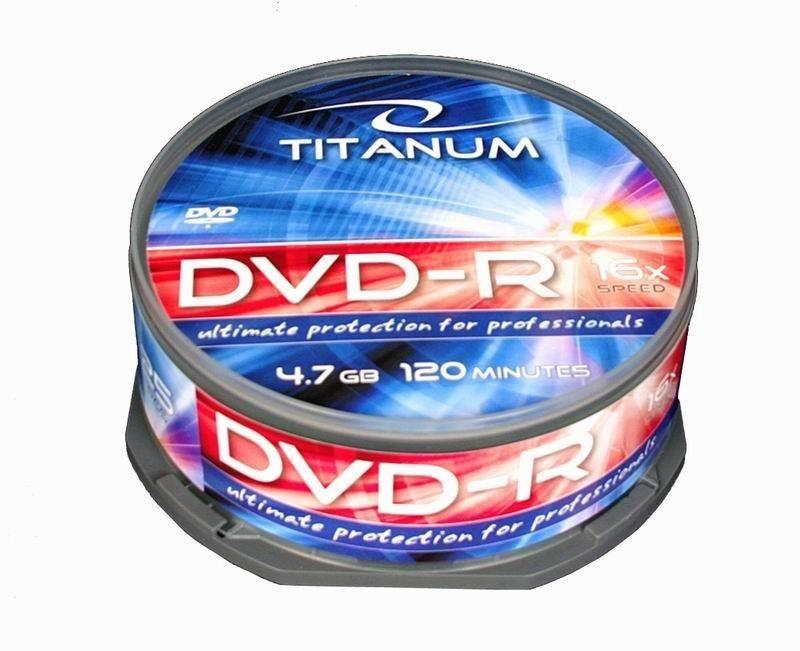 Titanum 1280 - 5905784765105 1280 - DVD-R cake box 25 4.7GB 16x