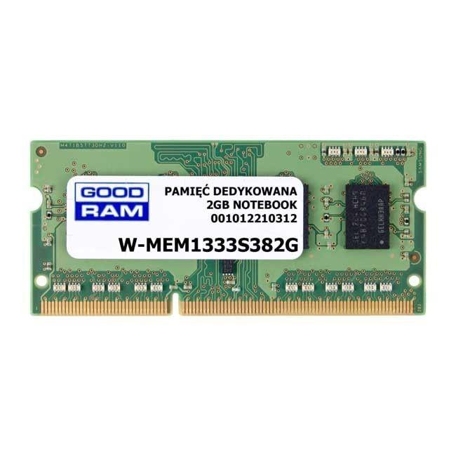 GoodRam Pamięć RAM W-MEM1333S382G (DDR3 SO-DIMM; 1 x 2 GB; 1333 MHz)