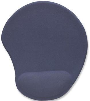 Manhattan 427203 Podkładka pod mysz żelowa, z podpórką na nadgarstek, niebieska