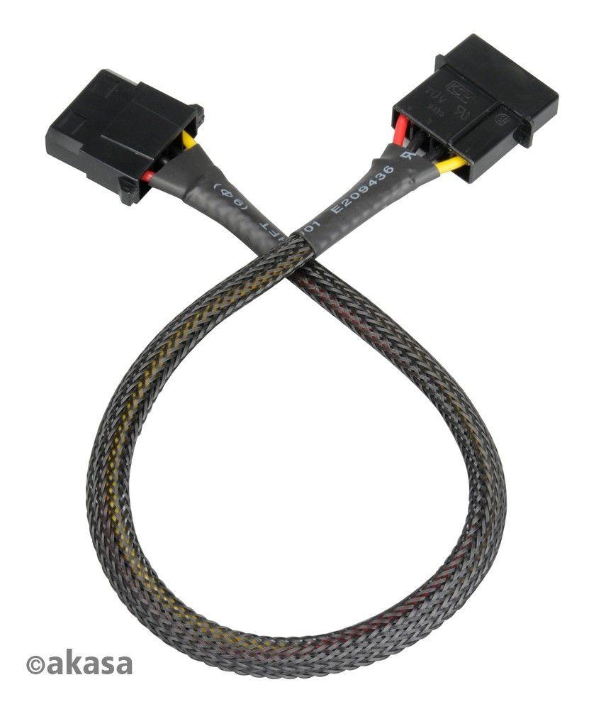 Akasa przedlużacz 4pin wtyczkiMolex AK-CBPW0230