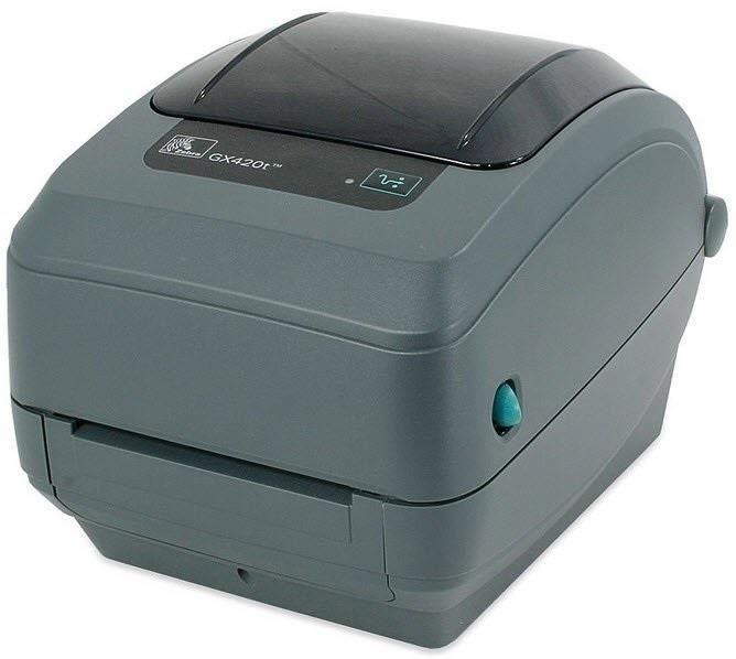 Zebra TT Printer GX420t; 203dpi, EU and UK Cords, EPL2, ZPL II, USB, Serial, Ethernet