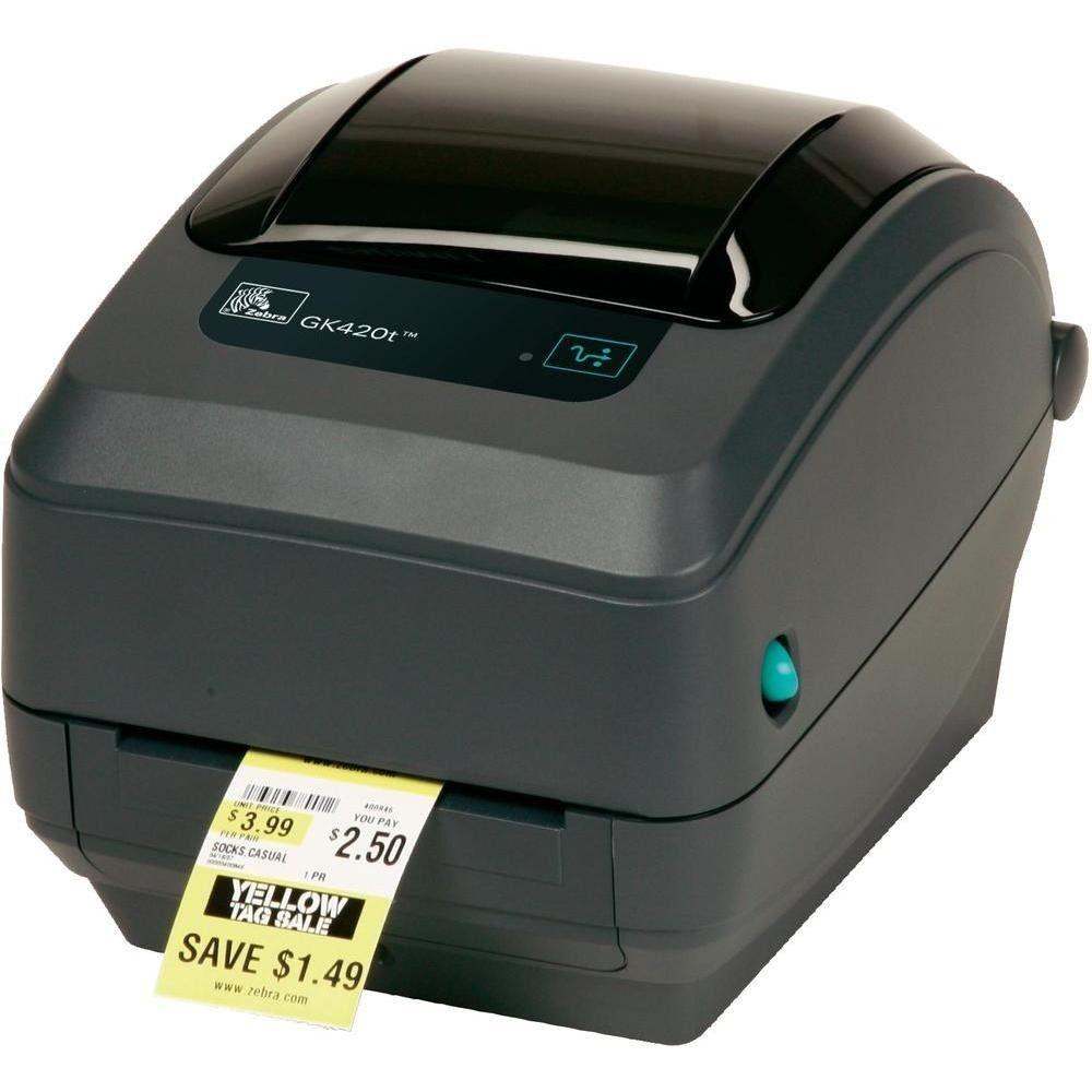 Zebra Drukarka etykiet GK420t/termotransferowa/203dpi/USB/Print Server rev 2.