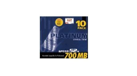 Platinum CD-R 700 MB 52x Koperta 10 szt.