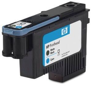 HP 70 original printhead matte black and cyan standard capacity 1-pack