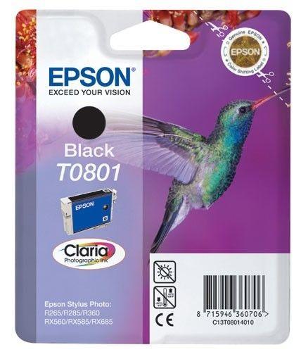 Epson C13T08014011 Tusz T0801 black Stylus photo R265/285/360,RX560/585/685