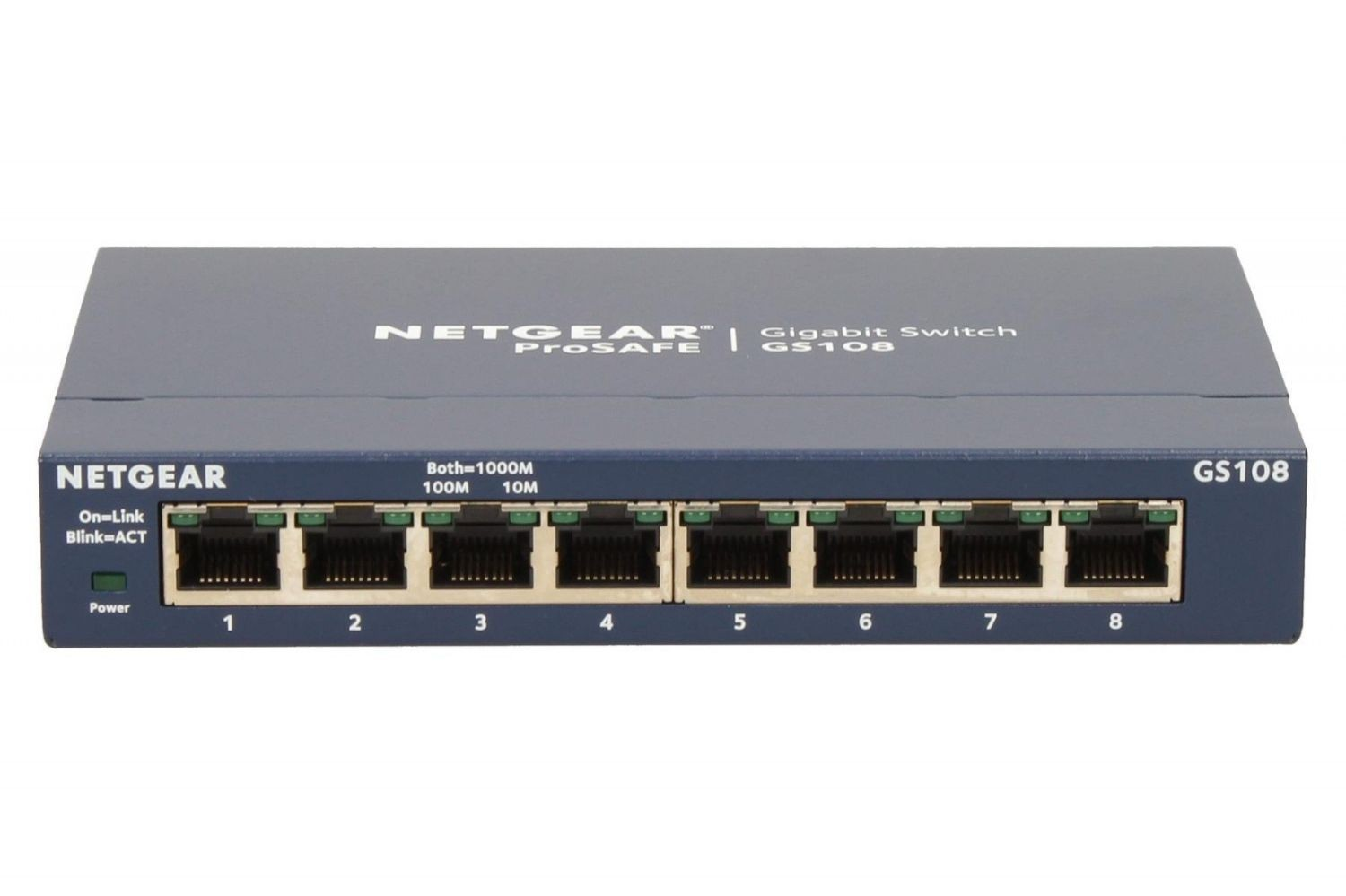 Netgear ProSafe 8-Port Gigabit Desktop Switch Metal (GS108GE)