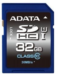 A-Data karta pamięci 32GB SDHC UHS-1 Class10 ( 30MB/s) PHOTO/VIDEO FULL HD