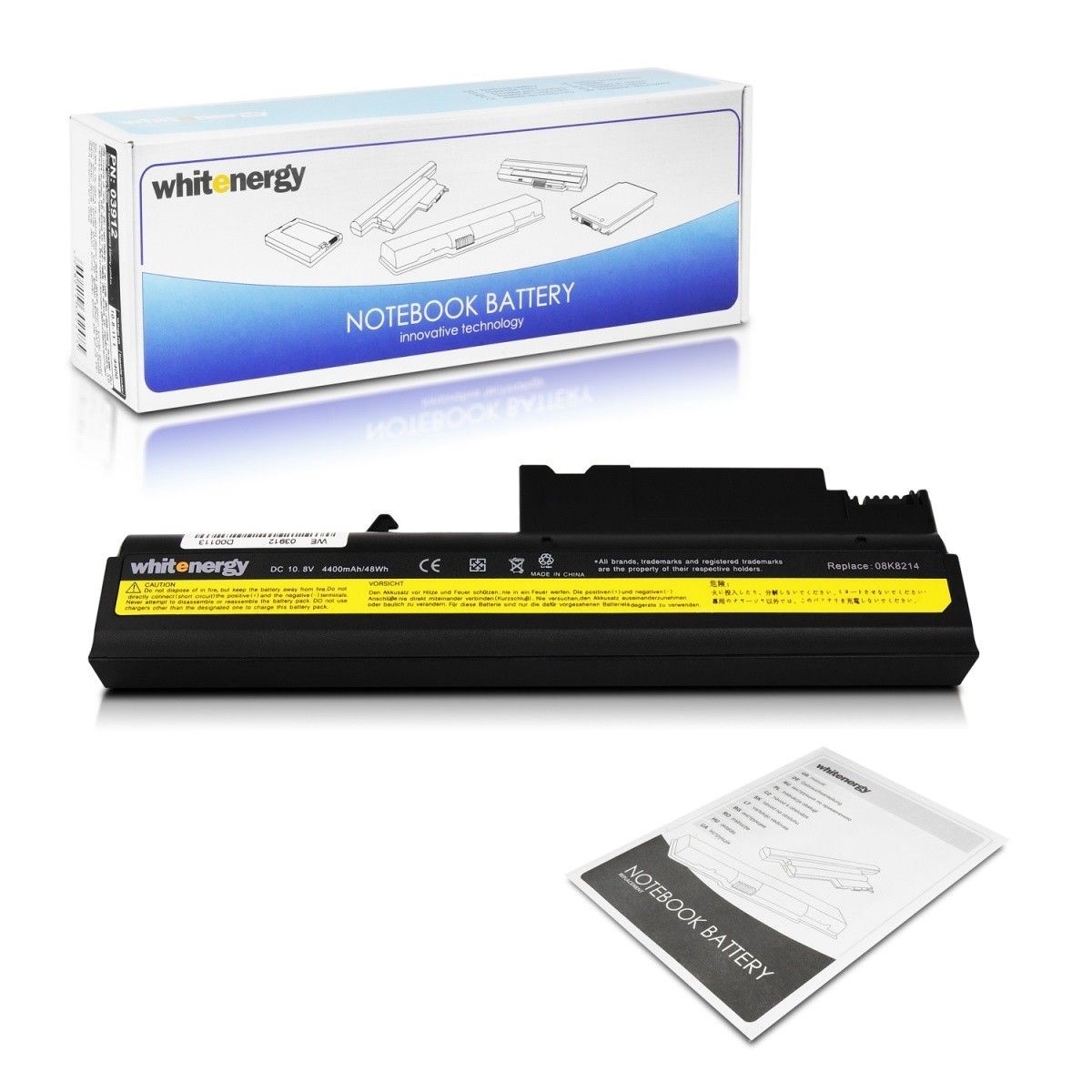 Whitenergy Bateria Lenovo ThinkPad T40 10,8V 4400mA