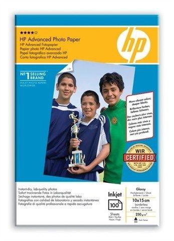 HP Q8692A Papier Advanced Glossy Photo 250g 10x15cm borderless 100ark