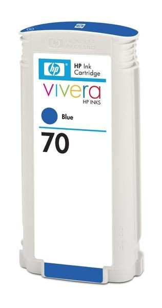 HP 70 original ink cartridge blue standard capacity 130ml 1-pack with Vivera ink